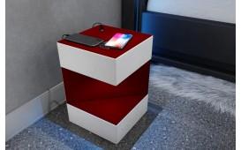 Comodino di design COSMOS con presa USB e caricabatterie wireless-NATIVO™ Möbel Schweiz