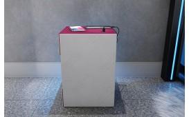 Table de chevet COSMOS avec port USB et chargeur sans fil-NATIVO™ Möbel Schweiz