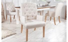 2 x Designer Stuhl FORTRESS BEIGE mit Armlehne-NATIVO™ Möbel Schweiz