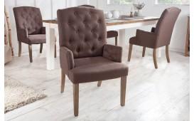 2 x Chaise Design FORTRESS BROWN avec accoudoirs-NATIVO™ Möbel Schweiz