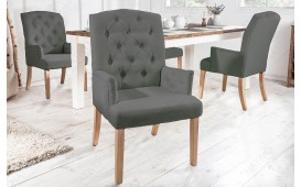 2 x Chaise Design FORTRESS GREEN avec accoudoirs