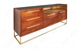 Buffet Design FLAT  GOLD 165 cm-NATIVO™ Möbel Schweiz