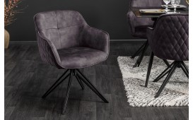 Chaise Design MASSIVO DARK GREY