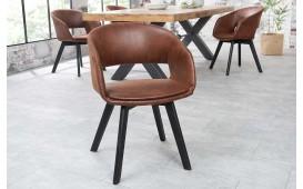 2 x Chaise Design NORTH BROWN - EN STOCK-NATIVO™ Möbel Schweiz