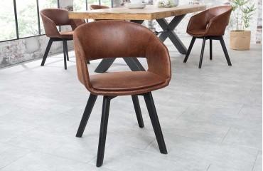 2 x Designer Stuhl NORTH BROWN Ab lager-NATIVO™ Möbel Schweiz