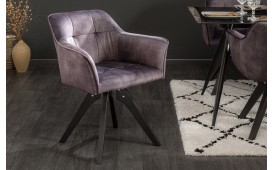Chaise design RIFLE I DARK GREY