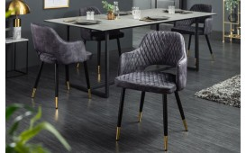 2 x Chaise Design PARIZON GREY-NATIVO™ Möbel Schweiz