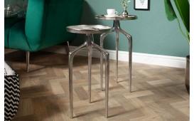 Tavolino d'appoggio di design ANCIENT SILVER SET 2