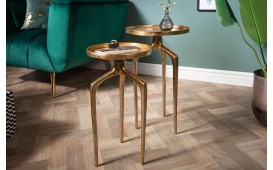 Table d'appoint Design ANCIENT GOLD SET 2-NATIVO™ Möbel Schweiz