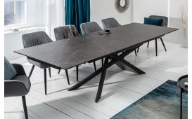 Table Design MASSIVO GRAPHIT 180-220-260 cm