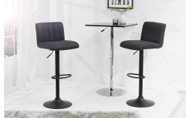 2 x Tabouret de bar PORT DARK GREY