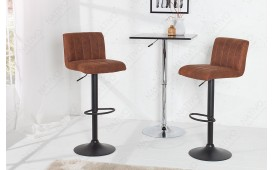 2 x Tabouret de bar PORT BROWN