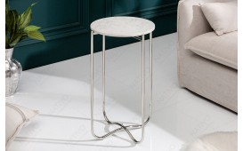 Tavolino d'appoggio di design DUO WHITE