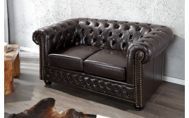 2 sitzer sofa CHESTERFIELD DARK COFFEE