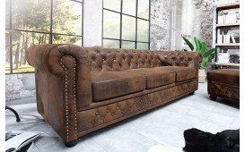 Canapé 3 place CHESTERFIELD ANTIK BROWN-NATIVO™ Möbel Schweiz