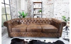 3 sitzer sofa CHESTERFIELD ANTIK BROWN-NATIVO™ Möbel Schweiz
