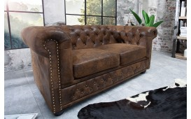 2 sitzer sofa CHESTERFIELD ANTIK BROWN