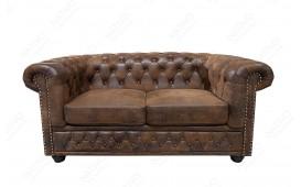2 sitzer sofa CHESTERFIELD ANTIK BROWN-NATIVO™ Möbel Schweiz