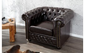 Fauteuil Relax CHESTERFIELD DARK COFFEE