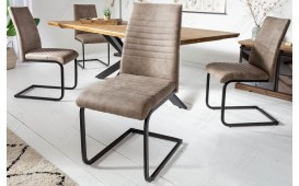 2 x Chaise Design MARTA TAUPE-NATIVO™ Möbel Schweiz