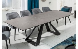 Table Design CONCA GREY 180-230 cm