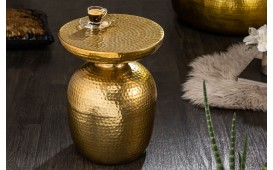 Table d'appoint Design ORIENTAL ROUND GOLD