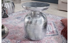 Table d'appoint Design ORIENTAL ROUND SILVER