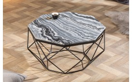 Table basse Design DIAMANDE MARBLE GREY