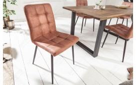 2 x Chaise Design LIVORNO BROWN