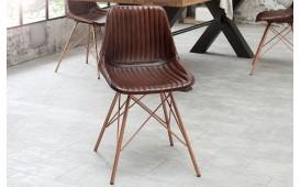 4 x Sedia di design ARRIVA BROWN STRIPED-NATIVO™ Möbel Schweiz