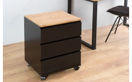 Designer Rollcontainer  ROLL OAK BLACK
