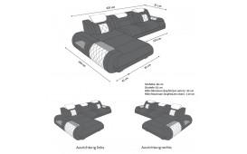Canapé Design VERSUS MINI avec éclairage LED & port USB-NATIVO™ Möbel Schweiz