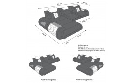 Designer Sofa VERSUS MINI mit LED Beleuchtung & USB Anschluss-NATIVO™ Möbel Schweiz
