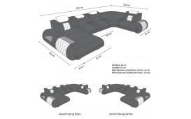 Designer Sofa VERSUS XL mit LED Beleuchtung & USB Anschluss-NATIVO™ Möbel Schweiz