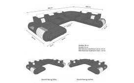 Designer Sofa VERSUS XXL mit LED Beleuchtung & USB Anschluss-NATIVO™ Möbel Schweiz