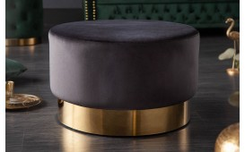 Pouf di design ROCCO BLACK GOLD 55 cm-NATIVO™ Möbel Schweiz