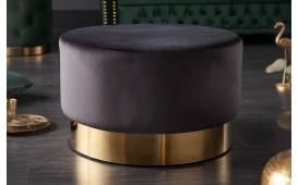 Tabouret Design  ROCCO BLACK GOLD 55 cm