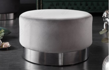 Designer Sitzhocker ROCCO SILVER 55 cm-NATIVO™ Möbel Schweiz