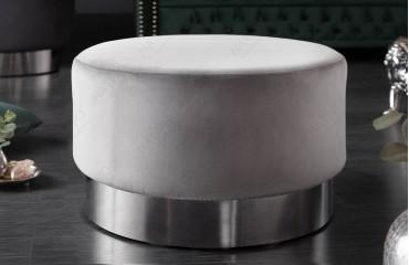 Tabouret Design ROCCO SILVER 55 cm-NATIVO™ Möbel Schweiz