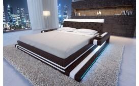 Lit Design IMPERIAL avec éclairage LED (Noir/Blanc) EN STOCK