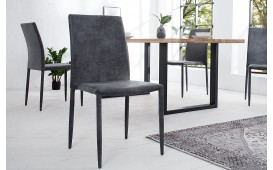 4 x Chaise Design TORINO DARK GREY EN STOCK