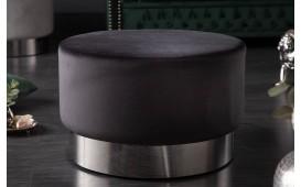 Pouf di design ROCCO BLACK SILVER 55 cm