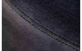 Designer Sitzhocker ROCCO BLACK SILVER 55 cm-NATIVO™ Möbel Schweiz