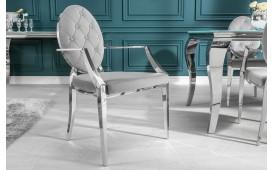 Chaise Design ROCCO GREY II AVEC LES ACCOUDOIRS