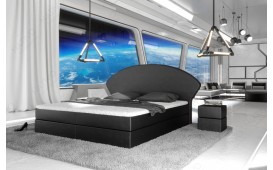Boxspringbett PERSEUS in Leder inkl. Topper & Bettkasten by ©iconX STUDIOS NATIVO mobili Svizzera