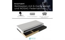 Boxspringbett DRACONIS in Leder inkl. Topper by ©iconX STUDIOS NATIVO™ Möbel Schweiz
