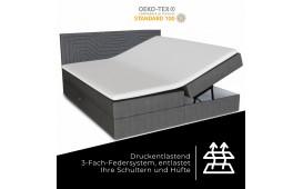 Boxspringbett PERSEUS in Leder inkl. Topper & Bettkasten by ©iconX STUDIOS