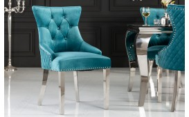 2 x Chaise Design FORTRESS TURQUOISE