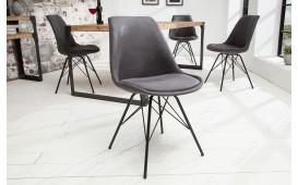 2 x Sedia di design SCANIA RETRO ANTIK GREY-NATIVO™ Möbel Schweiz