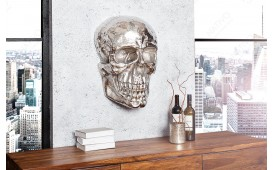 Décoration Design CRANIUM SILVER